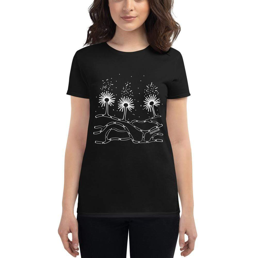 Aspergillus Women's Fitted T-shirt [Ontogenie Science Jewelry] Black S