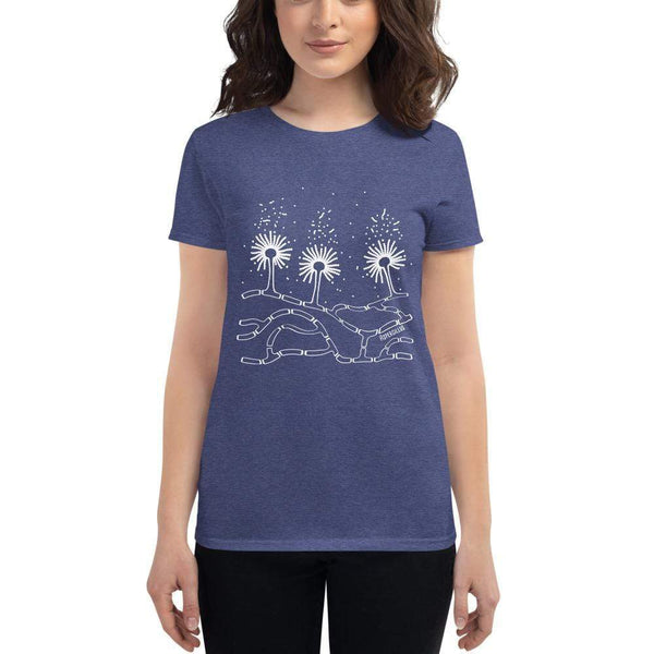 Aspergillus Women's Fitted T-shirt [Ontogenie Science Jewelry] Heather Blue S