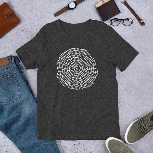 Foraminiferan Nummulites Unisex T-Shirt [Ontogenie Science Jewelry] Dark Grey Heather XS