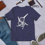 Foraminiferan Hantkenina Unisex T-Shirt [Ontogenie Science Jewelry] Heather Midnight Navy XS