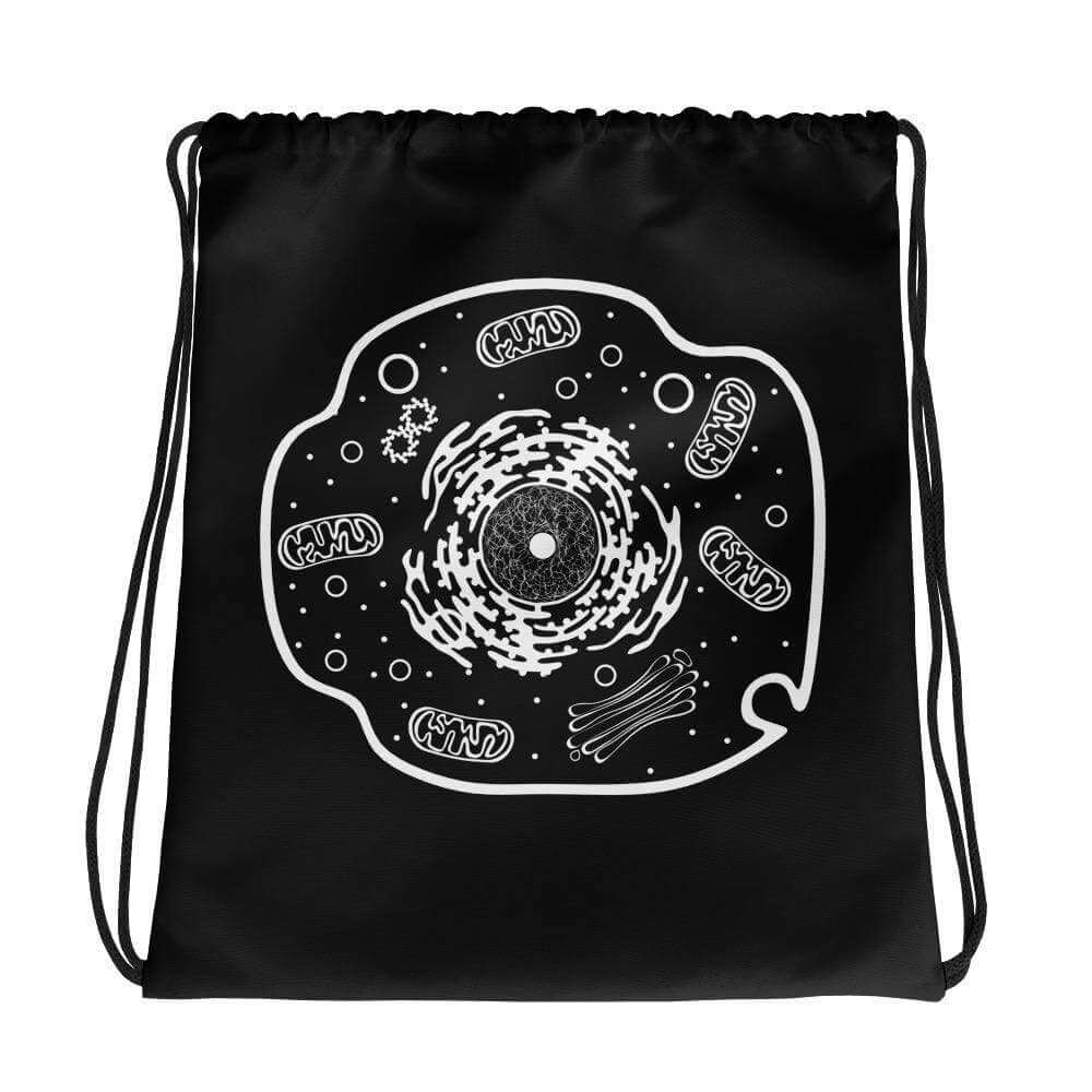 Animal Cell Drawstring Bag Science Gift