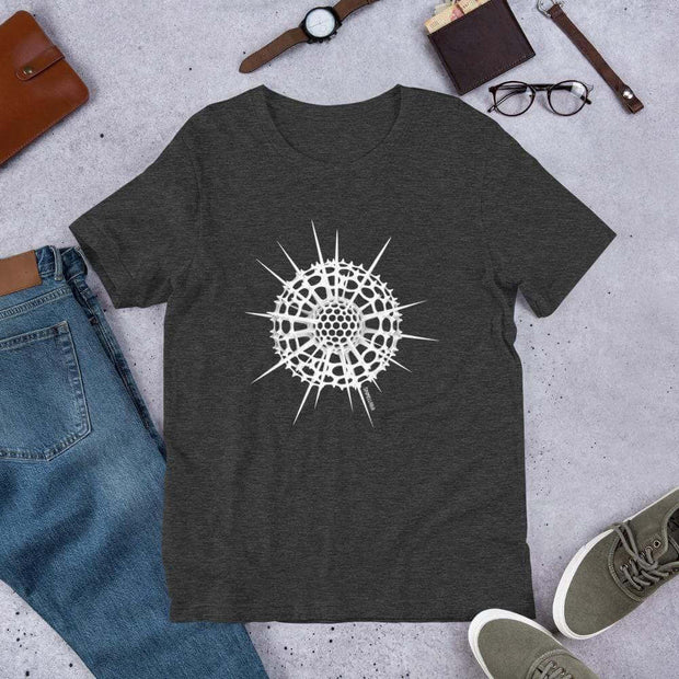 Radiolarian Spumellaria Unisex T-Shirt [Ontogenie Science Jewelry] Dark Grey Heather XS