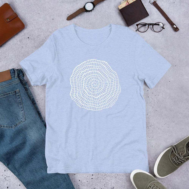Foraminiferan Nummulites Unisex T-Shirt [Ontogenie Science Jewelry] Heather Blue S