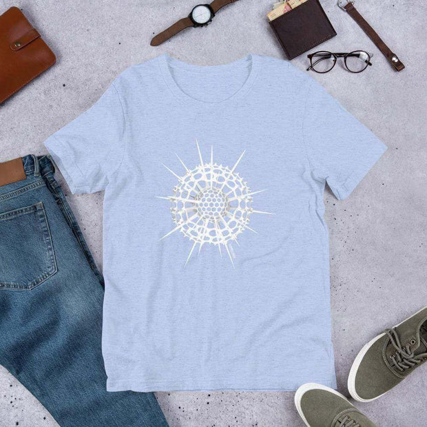 Radiolarian Spumellaria Unisex T-Shirt [Ontogenie Science Jewelry] Heather Blue S