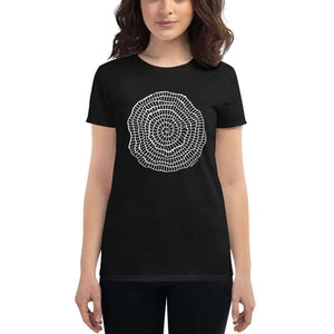 Foraminiferan Nummulites Fitted Women's T-shirt [Ontogenie Science Jewelry] Black S