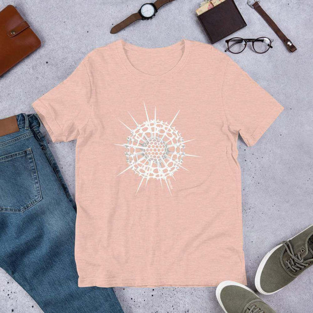 Radiolarian Spumellaria Unisex T-Shirt [Ontogenie Science Jewelry] Heather Prism Peach XS