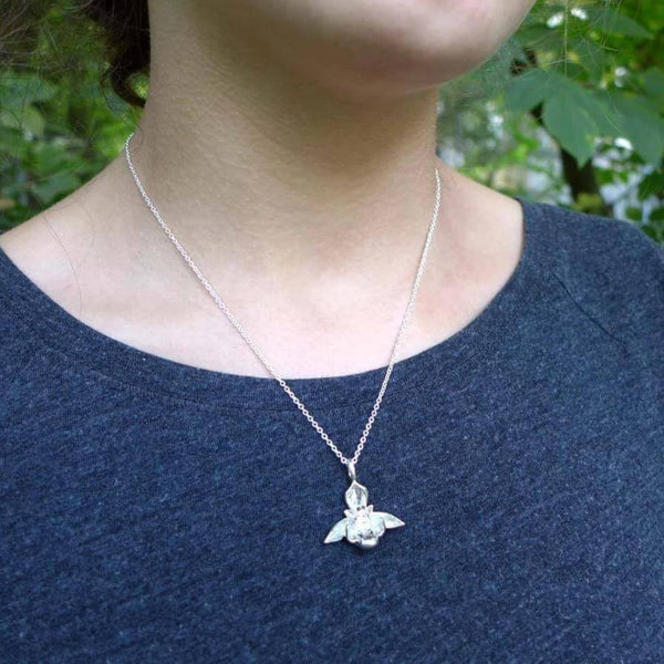 Bee Orchid Pendant Pendant [Ontogenie Science Jewelry]