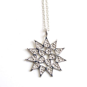 pediastrum pendant sterling silver colonial algae science jewelry