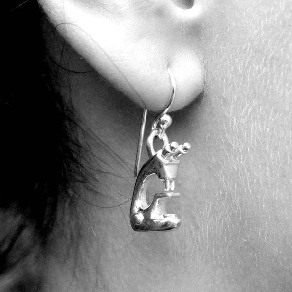 Microscope Earrings Earrings [Ontogenie Science Jewelry]