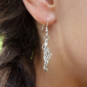 Plant Root Earrings Earrings [Ontogenie Science Jewelry]