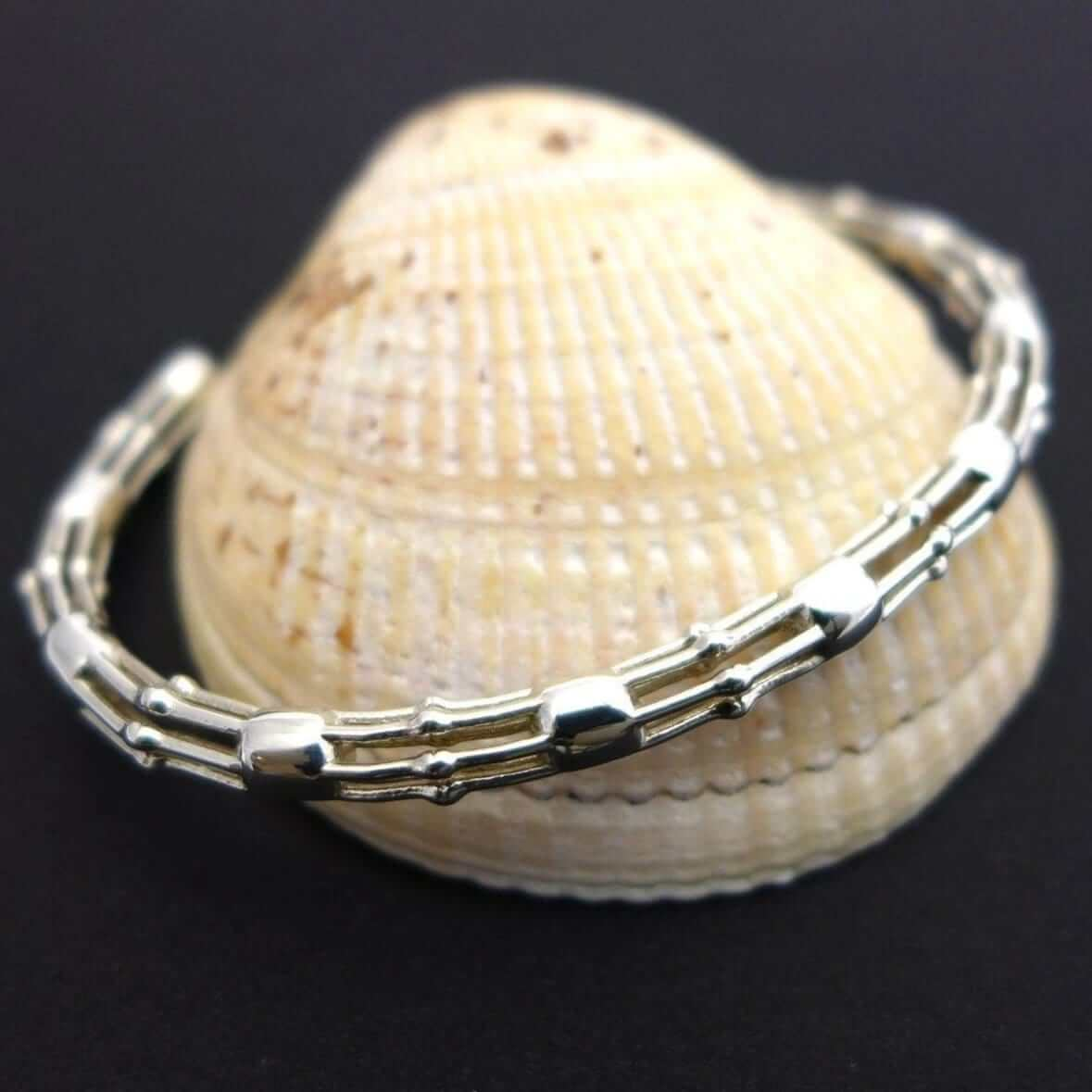 Skeletonema Bracelet in solid sterling silver_Diatom Jewelry