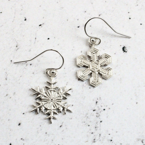 Snowflake Earrings Earrings [Ontogenie Science Jewelry]