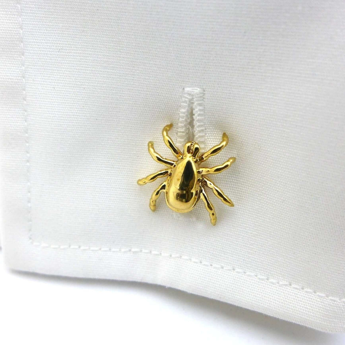 Tick cufflinks 3D printed brass