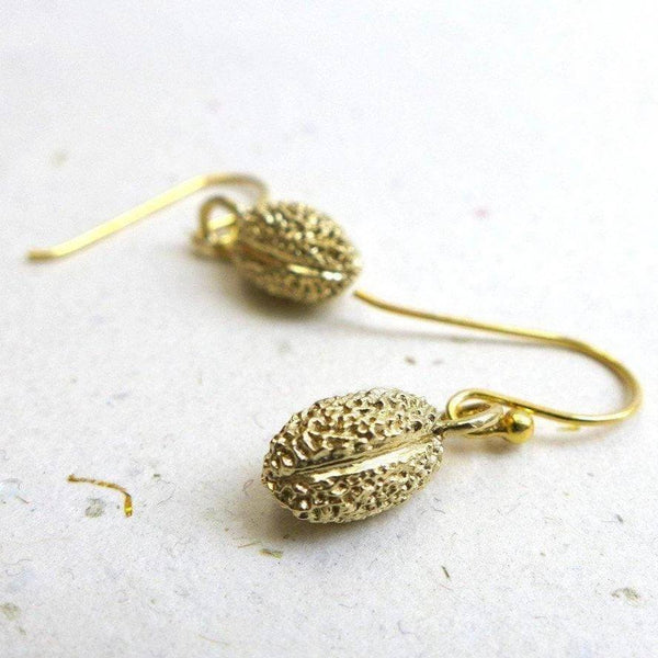 willow pollen earrings in brass