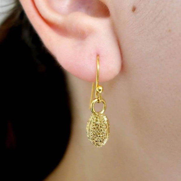 Willow Pollen Earrings [Ontogenie Science Jewelry] botanical jewelry