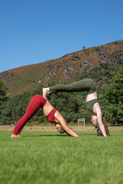 Two women exercising outdoors