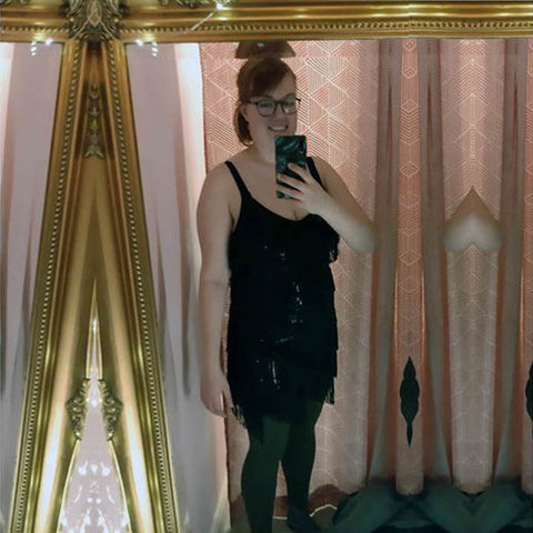 Image of Selina feeling confident in a dress