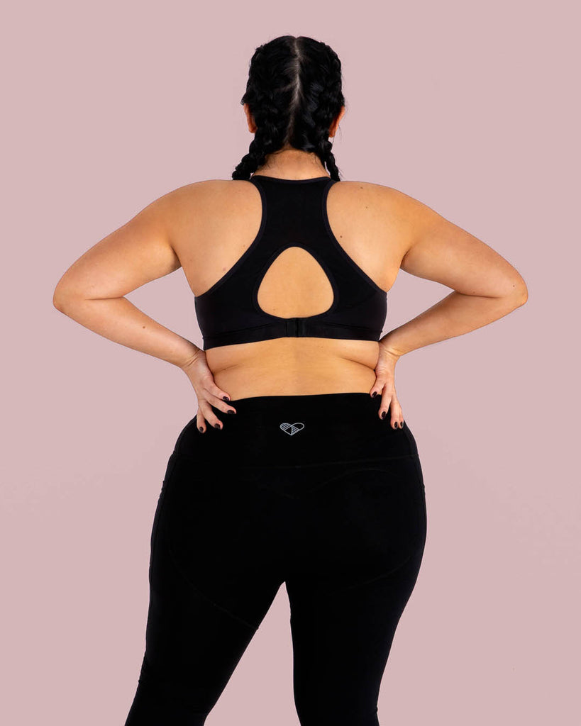 Black High Waisted Full Length Leggings with Pockets