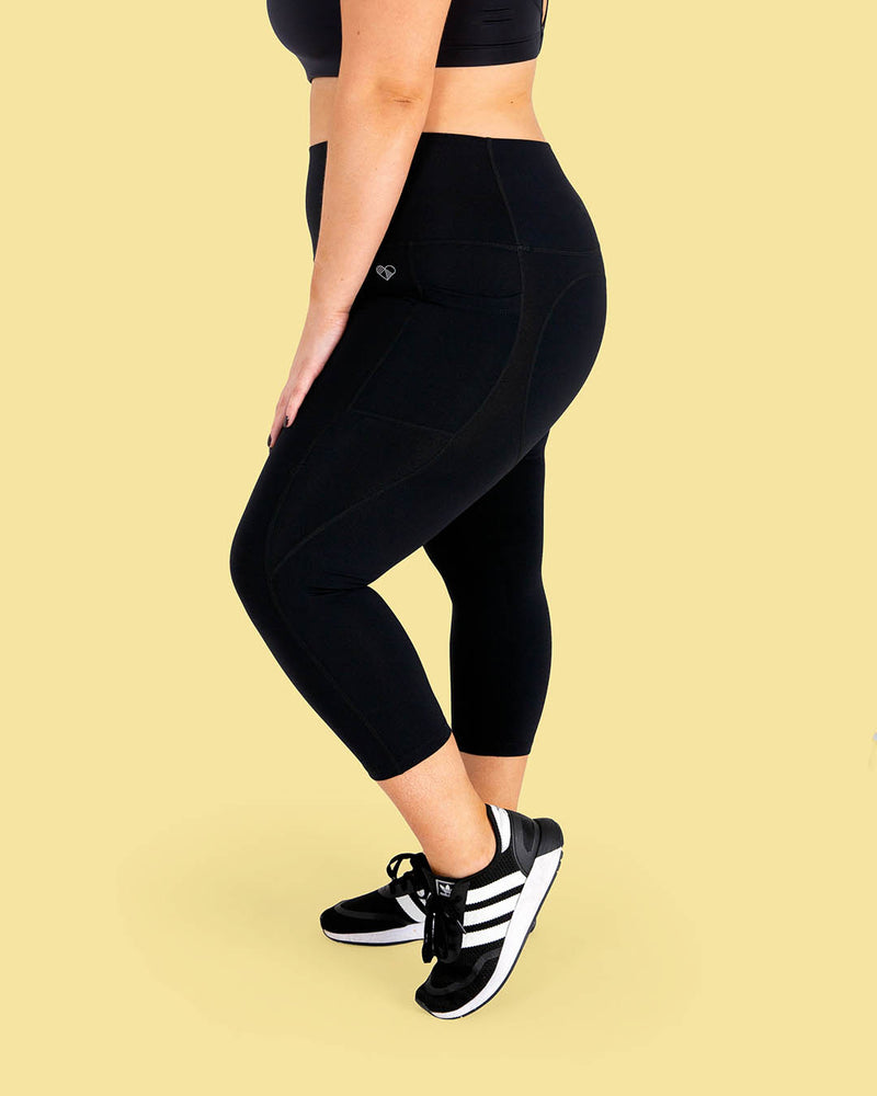 Black High Waisted Cropped Leggings