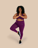 Aubergine High Waisted Full Length Leggings