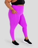 Magenta High Waisted Full Length Leggings with Pockets
