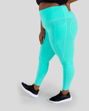 Mint Green High Waisted Full Length Leggings