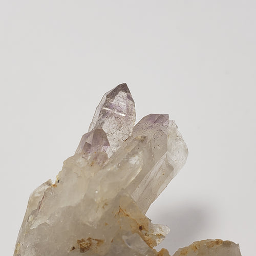 Amethyst Scepters on Crystal Cluster Recently Collected in North Carolina