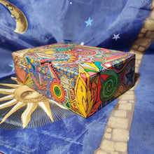 Wiccan Witch Woodburned Psychedelic Stash Box / Crystal Box / Blessed Be