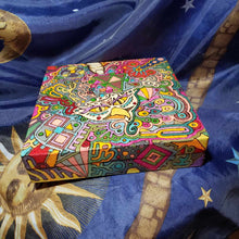 Evil Bird Woodburned Psychedelic Stash Box / Peter Max Style Weed Box