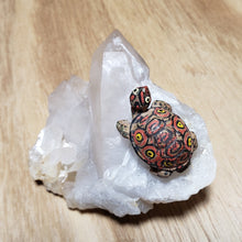 Vintage Turtle on Milky to Clear Crystal Point Plate from Charlotte NC