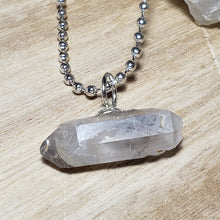 Healing Crystal Quartz Point with Recorders Pendant Charm Necklace Jewelry