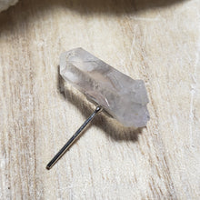 One NC Quartz Crystal Point Single Post Pierced Ears
