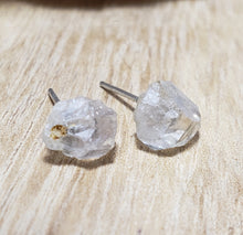 Unique Pair NC Quartz Crystal Post Pierced Earrings