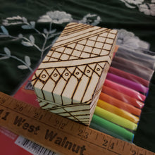 Small DIY Woodburned Art Box with Markers / Covid 19 Memory Box