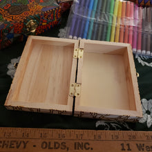 DIY Pandemic Woodburned Art Box with Markers / Covid 19 Memory Box / Color it yourself / Markers included