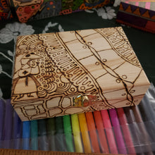 DIY Plague Doctors Woodburned Box with Markers / Covid 19 Memory Box / Plague Doctor / Paint It Yourself