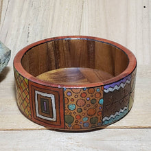 Psychedelic Woodburned Wooden Bowl / Woodburn Hippie Art Bowl
