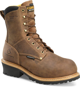 "Carolina Men's 9851 8"" Waterproof Insulated Composite Toe Logger Boot"
