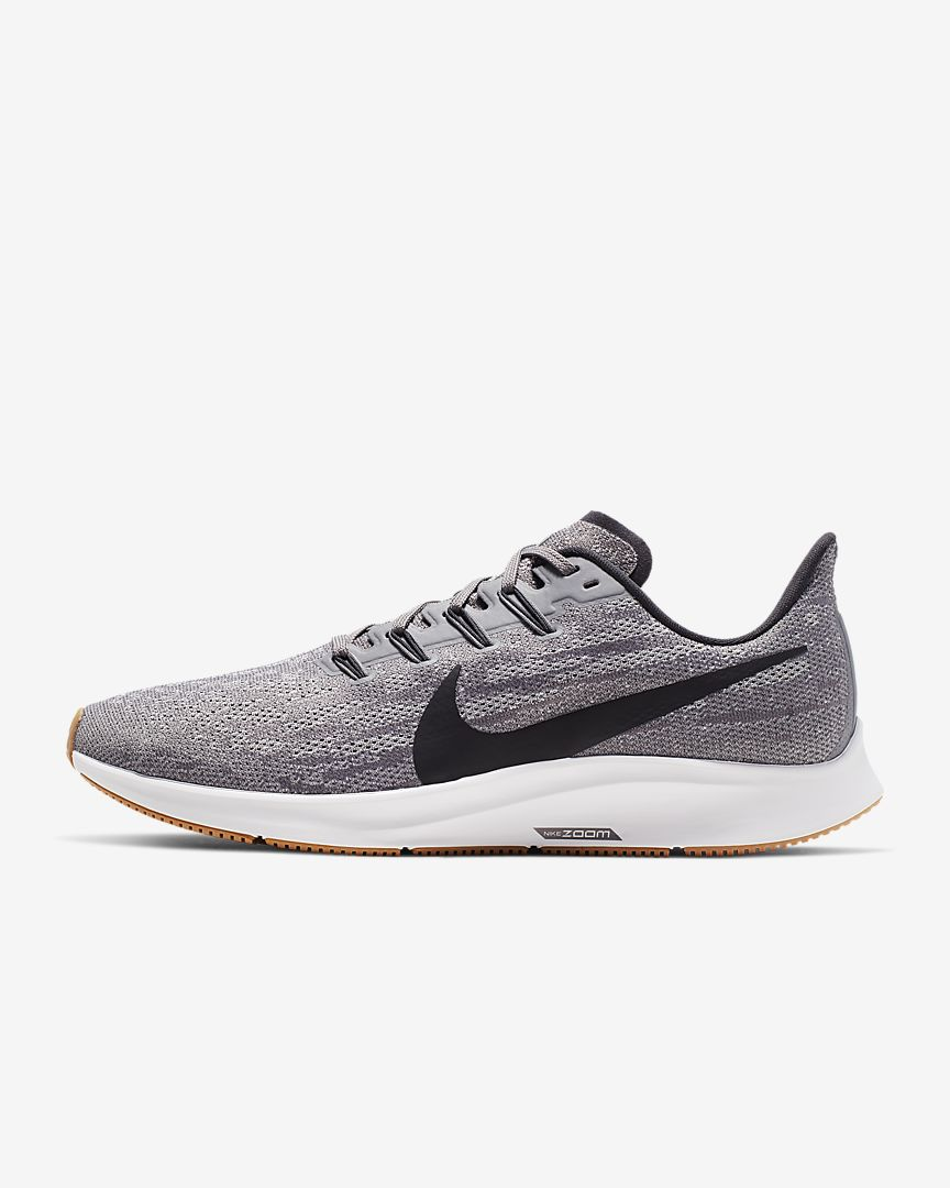 Nike Men's Zoom Pegasus 36 Running Shoe, Platinum/Black-Wolf Grey