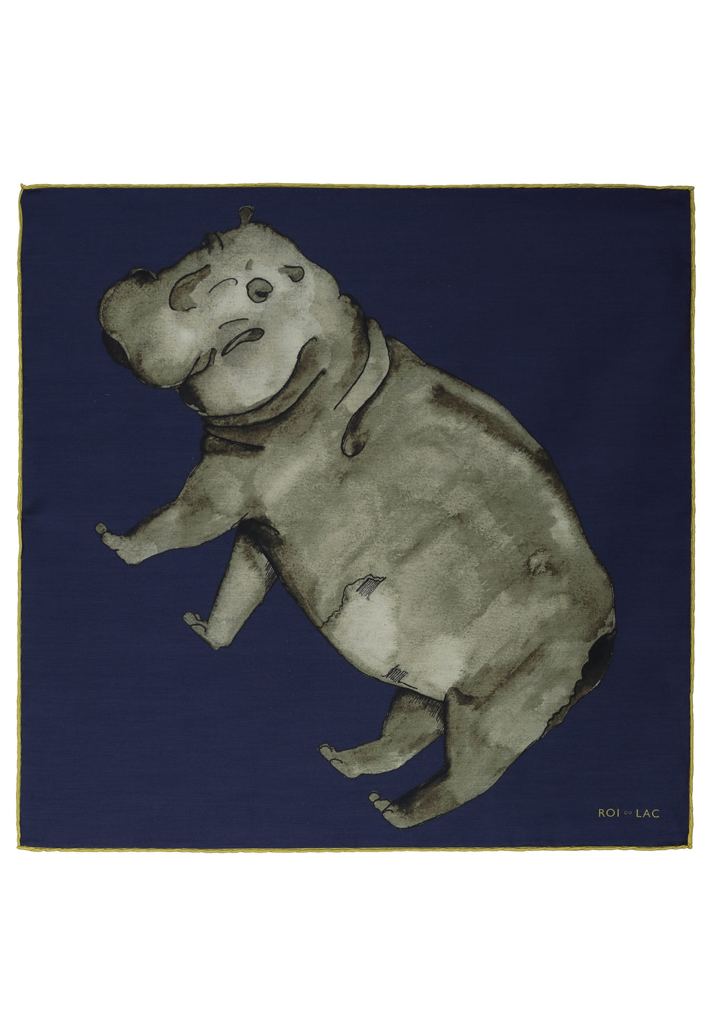 Hippo pocket square