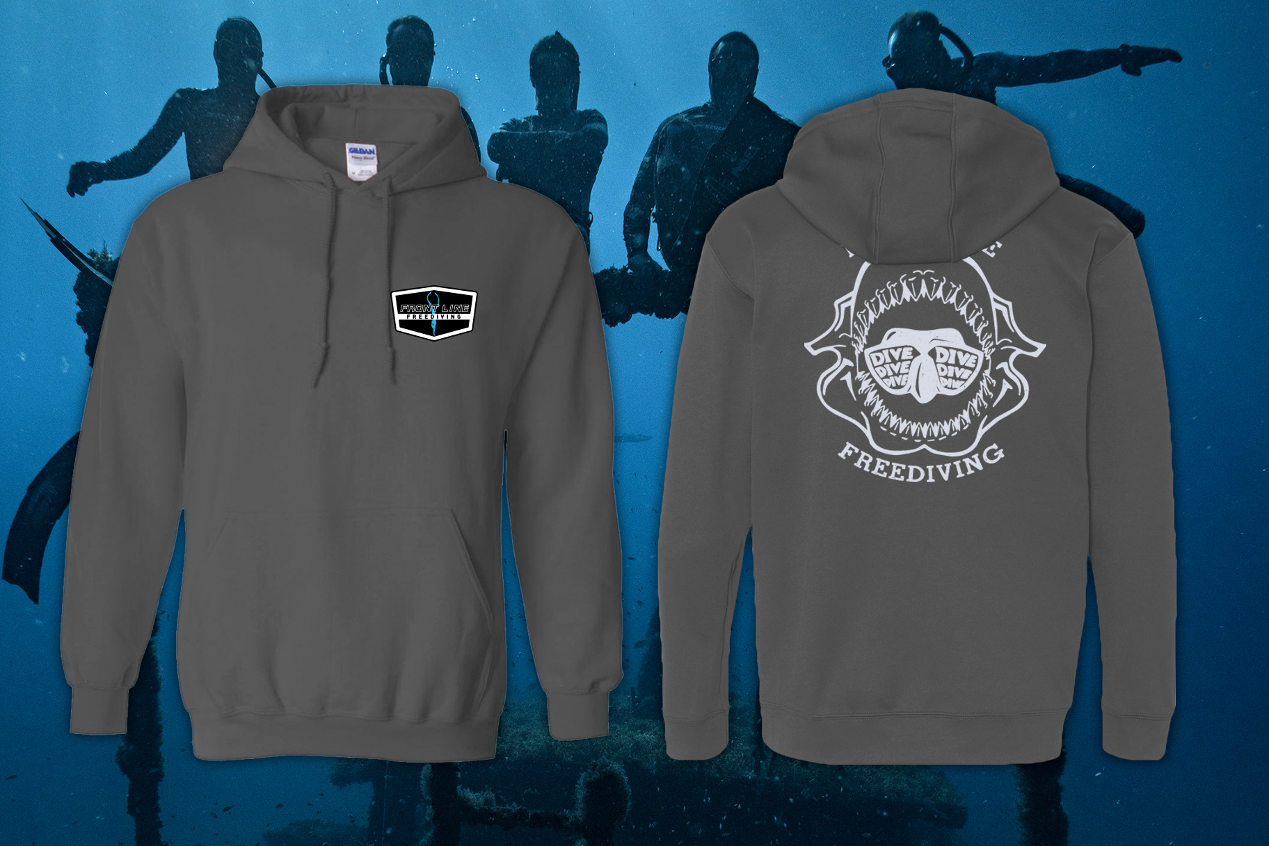 Front Line Shark Jaw Hoodie