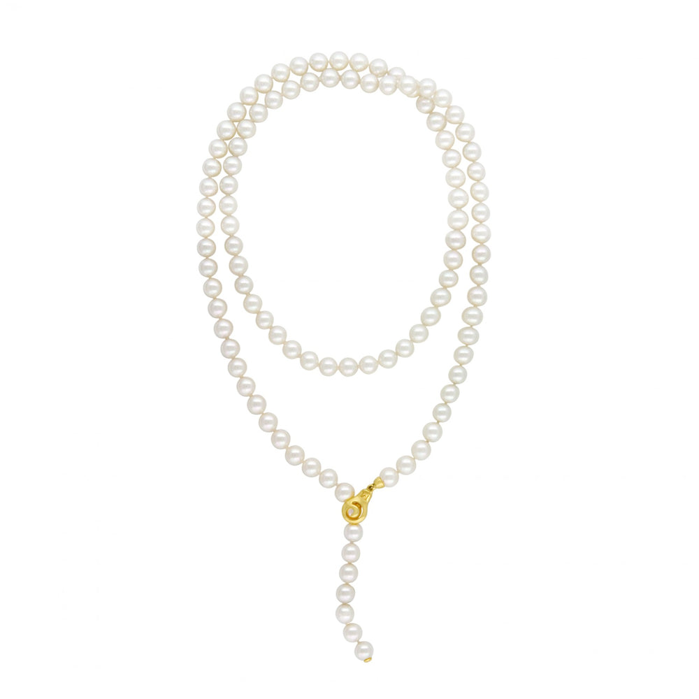 Classic Adjustable 8mm Round Pearl Strand with removable clasp