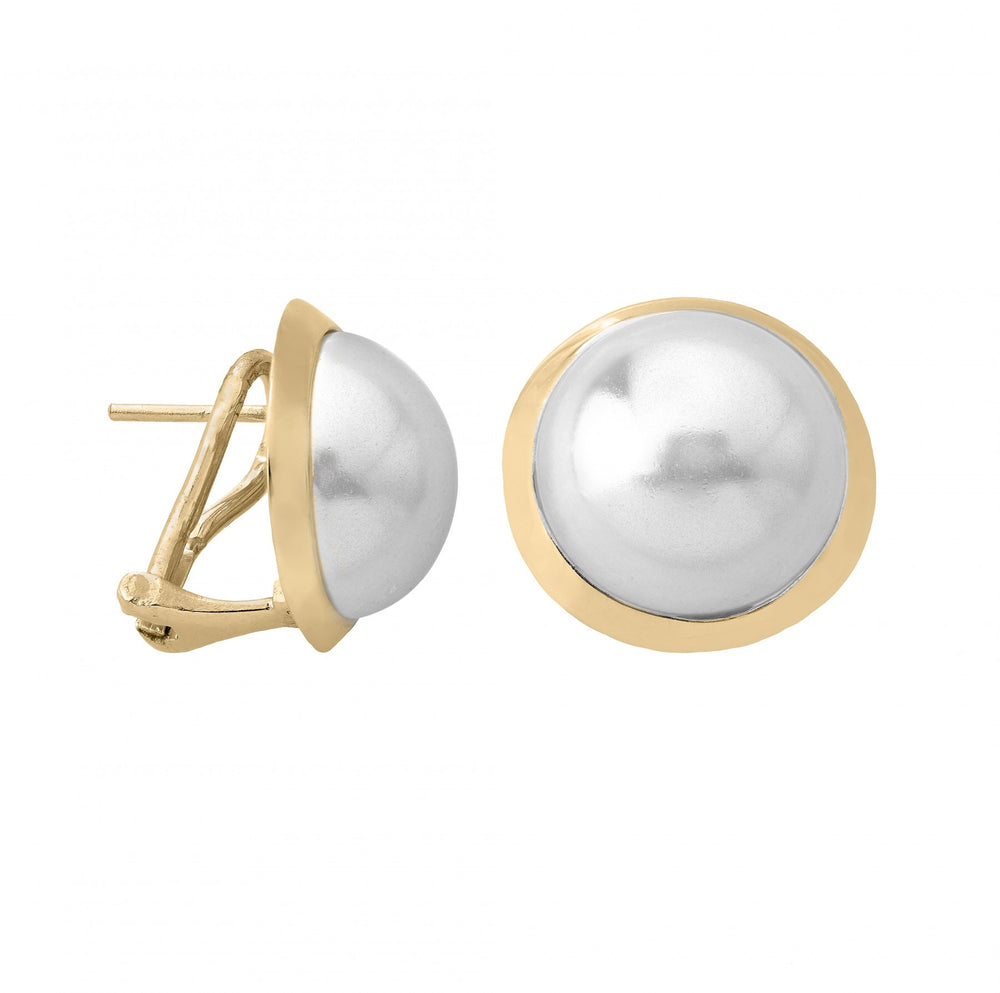 MABE Gold Post Clip Earrings