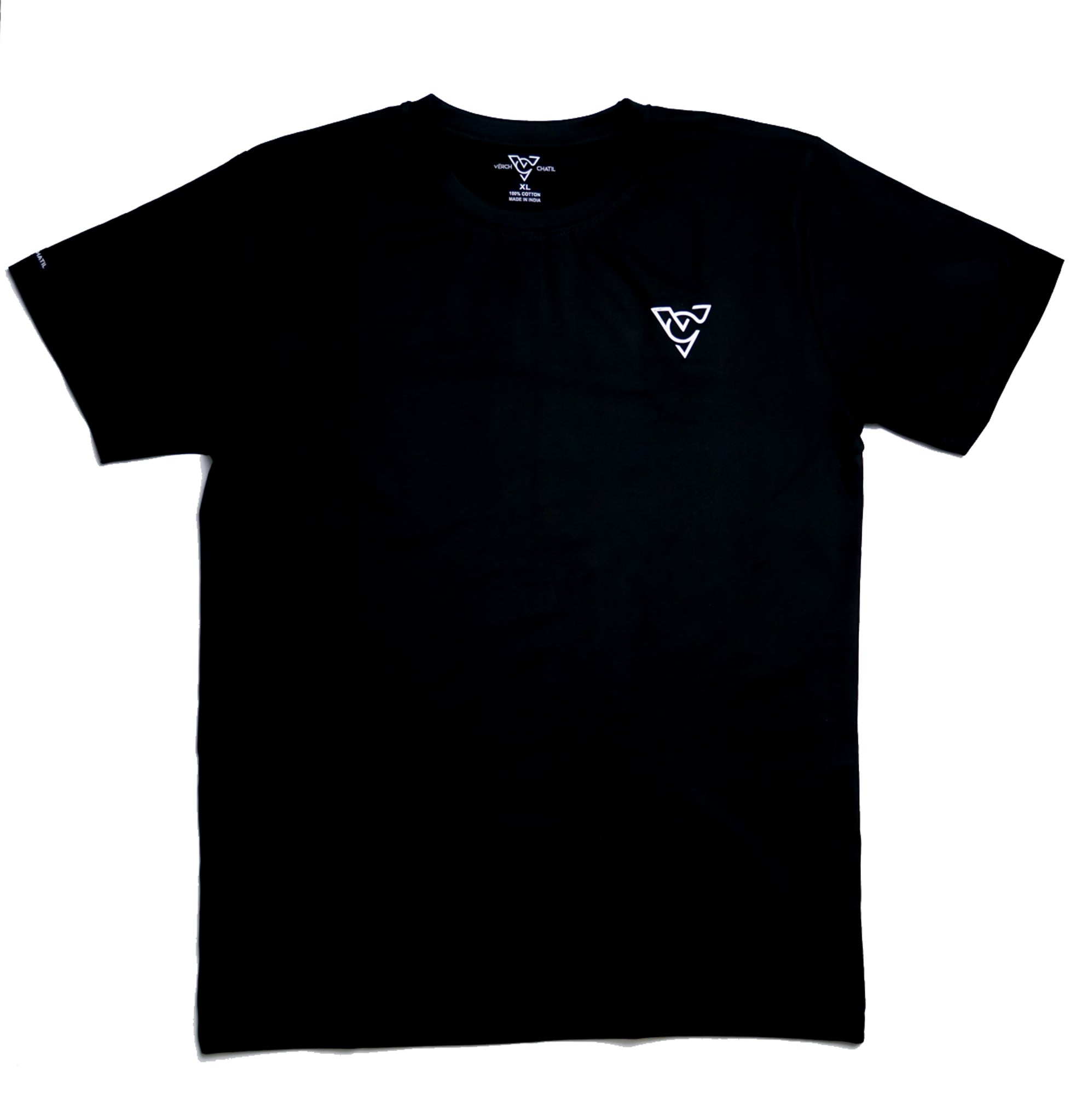 Verch Short Sleeve Black Shirt Chest Logo