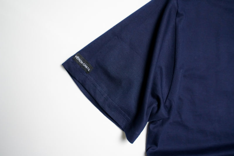 Verch Short Sleeve Navy Tshirt