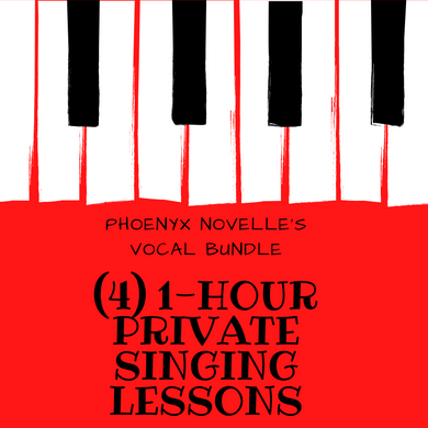 4-1 hour Singing Lessons (Online)