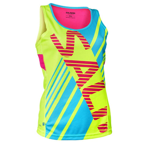 SALMING RACE SINGLET<br /> <h6>Safety Yellow, Pink Glo, Blue Atoll</h6>