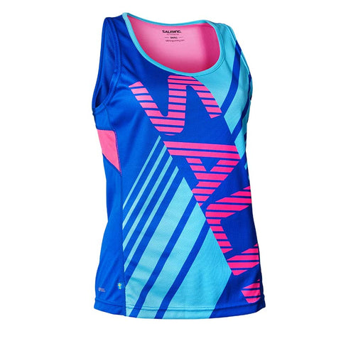 SALMING RACE SINGLET<br /> <h6>Blue Sapphire, Soft Pink, Blue Atoll</h6>