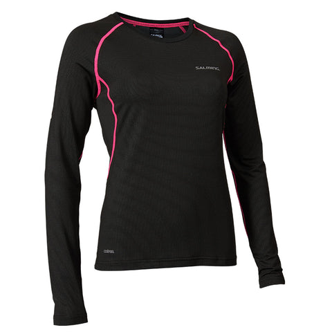 SALMING BALANCE LS TEE<br /> <h6>Black, Pink Glo</h6>