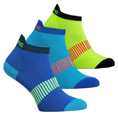 SALMING PERFORMANCE ANKLE SOCK 3P<br /> <h6>Blue, Mixed</h6>